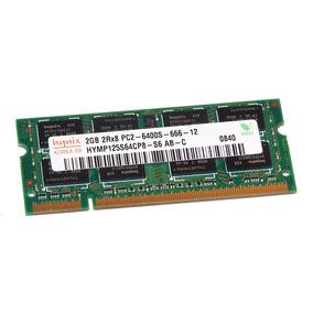 Memoria 2gb Ddr2 Notebook Hynix Hymp125s64cp8-s6 Pc2-6400s