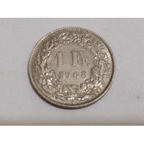 Moneda Suiza 1 Franco 1968 Como Nueva (1)