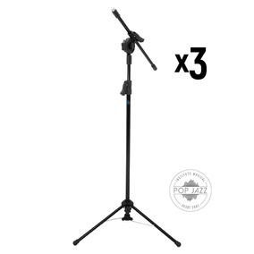 Kit 3 Pedestal Girafa Para Microfone Visão Musical Pe-2