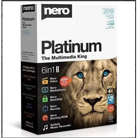 Nero 2019 Suite Platinum Completo + Content Packs 1 E 2