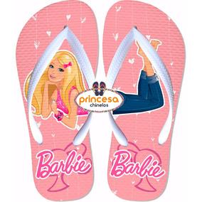 Chinelo Barbie Infantil Menina Barato Feminino 80 Pares