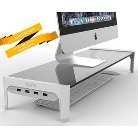 Suporte Base Para Monitor Notebook Pc Mac Com Switch Hub Usb