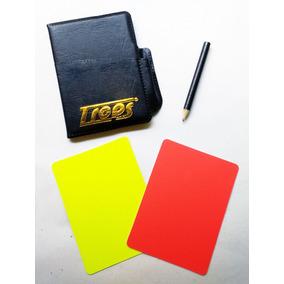 Tarjetas Arbitro Fútbol + Estuche + Lápiz ( Roja-amarilla )