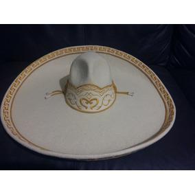 Sombrero Charro Hueso Oro Adulto Fino Escaramuza Crema Mex 67d1a0ed8aaf
