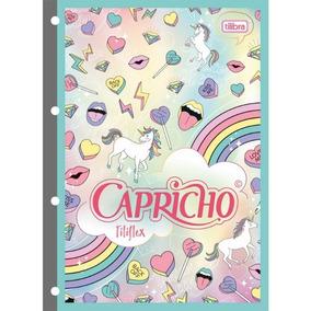 Bloco De Fichario Capricho Unicornio Tilibra 80fls