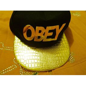 Obey Blim Blim Gorra Vicera Plana Original Color Oro 42f88b46050