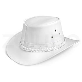 Chapeu Couro Legitimo Aba Curta Branco Country Masculino - Chapéus ... 55b663ab2e4