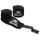 Bandagem Elástica - 300cm X 5cm - Preto - Muvin Bdg-300