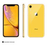 iPhone Xr Apple Amarelo 256gb, Retina De 6,1, 12 Mp, Oferta