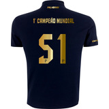 Camisa Polo Torcedor Palmeiras Primeiro Campeão Mundial