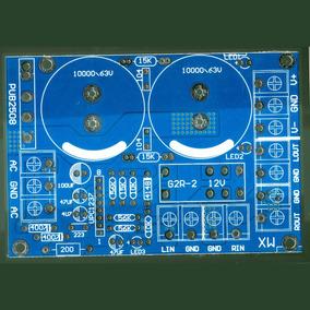 Placa Lisa Fonte Simétrica Amplificador Com Proteção Upc1237
