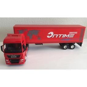 Miniatura Caminhão Man Tgx Trucada C/ Baú 1:64