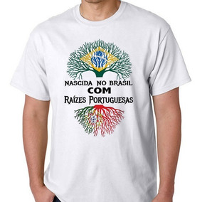 87cfada5b1 Camiseta Camisa Blusa Fem Nascida Raizes Portuguesa. 2 cores. R  35