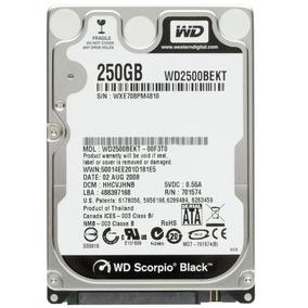 Hd 250gb Sata Notebook Wd Black 7200rpm Lacrado Garantia