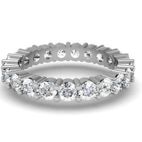 2 50 Quilates Ctw 14k Oro Blanco Diamante Redondo Eternid...