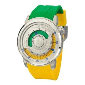 Relógio Masculino Yankee Street Ys30167g Brasil Verde Amarel