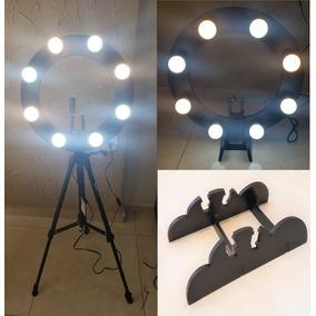 Ring Light 08 Lampadas 5w Led 2em1 + Tripé 1,50 + Kit Selfie