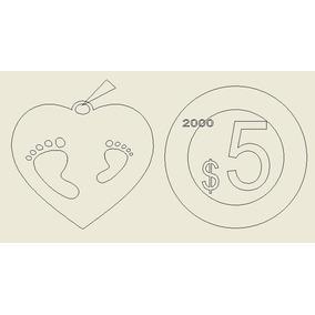 $corazón 25mm Diametro Con Huellas Y Nombre Plata Ley 950