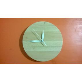 Reloj De Madera De Pared Minimalista