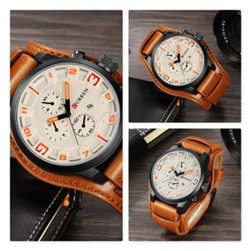 a21151d6cf7 Relogio Masculino Bracelete Couro - Relógio Masculino no Mercado ...