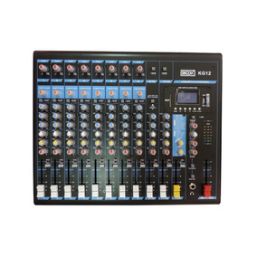 Mesa De Som Mixer 12 Canais Boxx Kg12 C/ Efeitos Mp3 Player