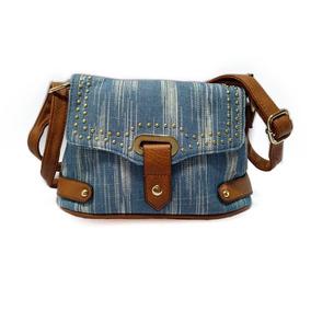 Bolsa Pequena Jeans Feminina Transversal Tiracolo Promoção