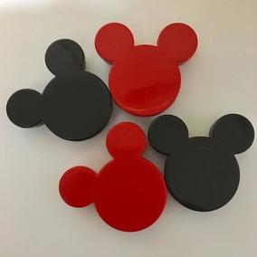 40 Caixinhas Latinhas De Acrílico Orelha Do Mickey Ou Minnie