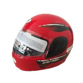 Capacete Moto One Preto - Vermelho Feminino E Masculino