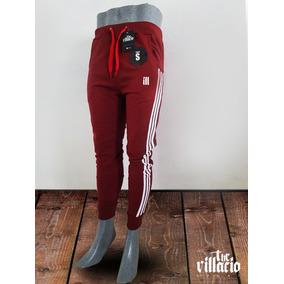 Pants Color Vino Con Lineas Blancas The Villacio