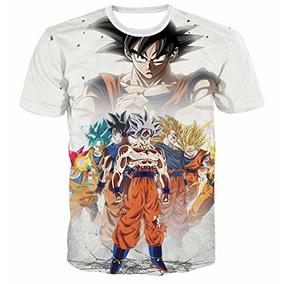 Camiseta Qingduomao Dragon Ball Goku Para Hombre Camiseta Es ba91779a8737