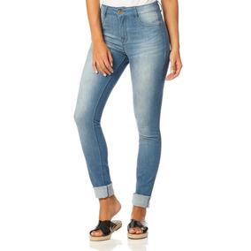 Calça Feminina Skinny Cintura Média Bigode Sobreposto-sp2249