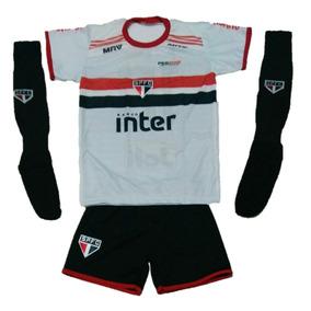 Conjunto Infantil São Paulo Futebol Com Meião 28 A 35 e70da08ea0779
