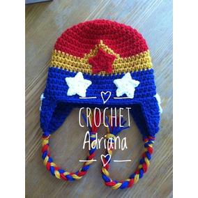 Gorro Crochet Mujer Maravilla Bebés