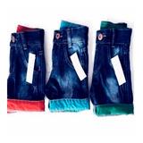 Kit 5 Bermuda Short Jeans Infantil Slim Skinny Top Atacado c998953d53ebc