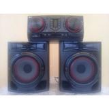 Equipo De Sonido Lg Cj44 Bluetooth Usb Radio Cd Karaoke 480w