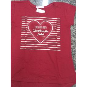Blusa Infantil Com Mensagem Cria Em Mim Um Coração Puro
