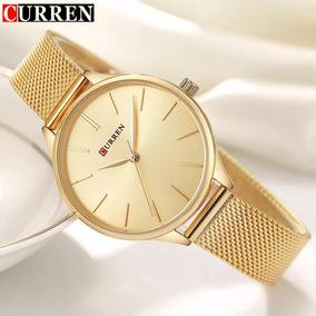 Relógio Feminino Dourado - O Melhor Frete Para O Nord