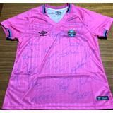 Camisa Gremio Outubro Rosa 2018 Autografada Todo Elenco 12a4d4554bd75