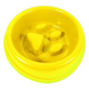 Comedouro Para Cachorros E Gatos De Plástico 1 L - Amarelo