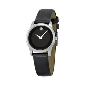 Reloj Movado 606503 Cuero Negro Mujer