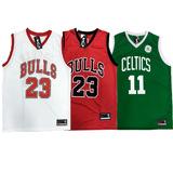 7342407b2 Kit 3 Camiseta Regata Basquete Bulls Celtcs Lakers Usa Mais
