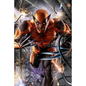 Poster Sideshow Marvel Wolverine Autografado Por Greg Horn