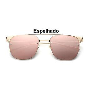 ad3fc00b32ea3 Oculo Transparente Quadrado Vermelho De Sol - Óculos no Mercado ...