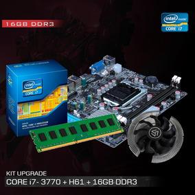 Kit Processador I7 3770 3.9 Ghz + Placa Mãe H61 + 16gb