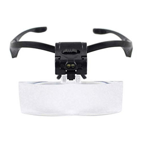 Gafas Con Lupa De Mano Derecha Con 2 Luces De Lupa Y Diadema