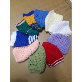 d298b156e Gorro Blanco Tejido Crochet - Ropa y Accesorios Rojo en Mercado ...