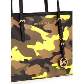 Bolsa Original Michael Kors Nova Jet Set Acid Lemon Camuflad
