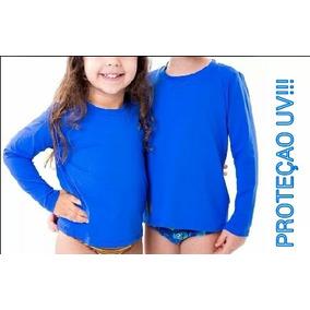 Camisa Termica Infantil Com Proteçao Solar Uv b03514aff2244
