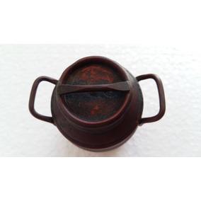 Miniatura Taro Latão De Leite Antigo Cobre Coleção Decoração