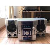 Equipo De Sonido Minicomponente Con Casetera Y Cd Remate